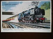 Postcard City Of London Lms Loco At Bushey Water Troughs