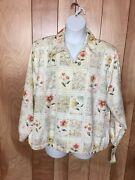 Womenand039s Alfred Dunner Petite Woman Floral Lightweight Jacket-size 22wp