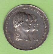 Russia Silver Medal 1813 Alliance With Prussia And Austria Rar Nswleipzig