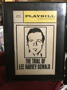 Anta Theatre The Trial Of Lee Harvey Oswald Playbill Original 60s W/ Frame