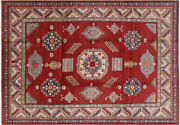 Hand-knotted Kazak Wool Rug 8and039 4 X 12and039 0- P5704