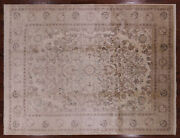 9and039 0 X 11and039 10 Hand Knotted Turkish Oushak Wool Area Rug - H9687