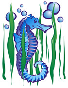 Sea Horse Bubbles T-shirt Your Choice Of Shirt Color And Print Locations
