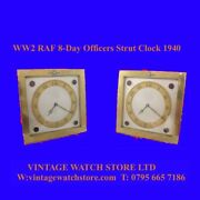 Ww2 Mint Gilt Raf Officers Mantle Military Luxor 8-day Clock 1940