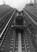 Photo Gwr 4946 Takes Water At Undy Troughs 8th Feb 1955