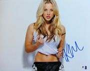 Kaley Cuoco Signed Autographed 11x14 Photo Big Bang Theory Penny Sexy Gv716126
