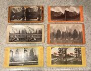 Lot Of 6 Antique Bierstadt Anthony Yosemite California Stereoview Photo Cards