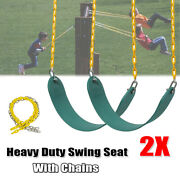 2pcs Heavy Duty Swing Seat Set Accessories Replacement Chains Kids Play Outdoor