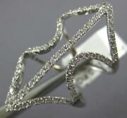 Estate Large .71ct Diamond 18kt White Gold 3d Double Anchor Fun Ring
