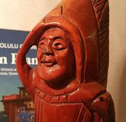 12 Counter Top Display Cigar Store Indian Tobacco Vtg Antique Wood Statue Art