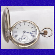 Superb Silver And Gold Omega Keyless Half-hunter Pocket Watch And Albert Chain 1905