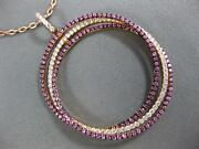 Large 1.95ct Diamond And Aaa Pink Sapphire 18kt Rose Gold Circle Of Life Pendant