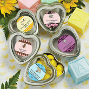 40-200 Personalized Heart Shaped Mint Tins - Baby Shower Christening Party Favor