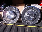 Pair Used 1958 58 Ford Hub Caps 14 Wheel Covers Hubcaps