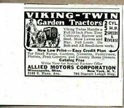1941 Print Ad Viking Twin 2 Cylinder Garden Tractors Allied Motors New York,ny