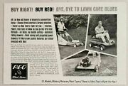 1967 Print Ad Reo Lawnmowers Riding, Push, Reel By Wheelhorse South Bend,in