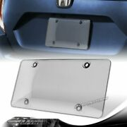 1pcs Tinted Clear/smoke Protector License Plate Frame Shield Cover Front And Rear