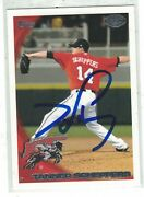 Tanner Scheppers Frisco Roughriders 2010 Topps Minor Authentic Autograph Coa
