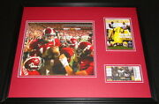 2008 Alabama Vs Lsu Framed 16x20 Photo And Repro Ticket And Program Cover Set