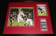 2009 Alabama Vs Miss St Framed 16x20 Photo And Repro Ticket And Program Cover Set