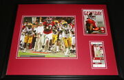 2009 Alabama Vs Lsu Framed 16x20 Photo And Repro Ticket And Program Cover Set