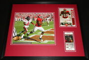 2008 Alabama Vs Ole Miss Framed 16x20 Photo And Repro Ticket And Program Cover Set