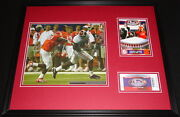 2008 Chick Fil A Kickoff Alabama Framed Photo And Repro Ticket And Program Set
