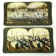 Keystone Stereo Optic View Cards U.s. Forces Wwi War 14 Piece Lot Circa 1917/18
