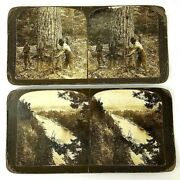 H.c. White Co. Stereo Optic View Cards Logging/landscape 14 Pc. Lot +2 Keystone