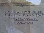 Original Circa 1928 Sikorsky S-38a Flying Boat Blueprint Us Army Only 11 Made