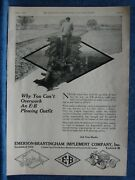 1920 Emerson-brantingham Implements Ad - Plowing Outfit Tractor Shown- Rockford