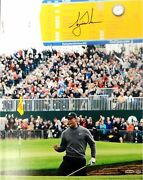 Tiger Woods Hand Signed Autograph 16x20 Photo Birdie At British Open Uda X/250