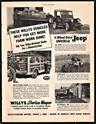 1950 Jeep Universal And Willys Station Wagone Ad Get More Farm Work Done