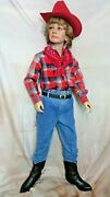 Vintage Child 6x Western Wear Set Costume Cowboy Hat Scarf Boots Pant Shirt Belt