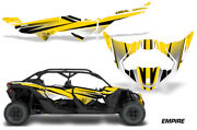 Half Graphics Kit Decal Wrap For Can-am Maverick X3 Max Ds Rs 4d 2016+ Empire Y