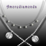 1.54 Ct 0.22 Cts Each G Vs2 Round Diamond Dangling By The Yard Necklace Gold 16