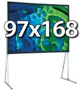 Draper 241331 - Ufs 97x168 Complete Screen System - Front Projection - Hd-legs