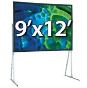 Draper 241097cd - Ufs 9and039x12and039 Complete Screen System - Dual Projection - Hd-legs