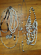 Costume Jewelry Pearl Lot Mixture Of Necklaces, Bracelets And Earrings