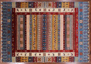 Gabbeh Tribal Hand-knotted Wool Rug 5' 7 X 7' 11 - P9212