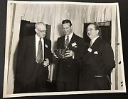 Orig 50s Stan Musial Rawlings Company Photo Introducing New Stan The Man Glove