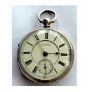 Superb Jewish Silver Fusee Aarons Of Manchester Goliath Pocket Watch 1891