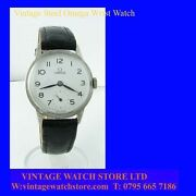 Ww2 Stunning Steel Omega Non-magnetic Officers Wrist Watch 1939
