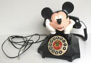 Telemania Mickey Mouse Desk Phone Rotary-style Push Buttons With Redial Tested