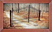 Home Security Driveway Gate 1635 11and039 Or 12andrsquo Ft Wide Inc Post Pkg Vets Discount