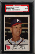 1953 Johnston Cookies Andy Pafko 24 Autograph Sgc Authentic P993