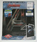 Marvel Blu-ray 3d Avengers Age Of Ultron New W/ Steelbook Ultron Back Cover