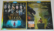 Disney Blu-ray Lot - The Jungle Book Used Into The Woods Used