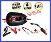 Charger Motorcycle Battery Easy4+wires+pliers 12v 09a Charger