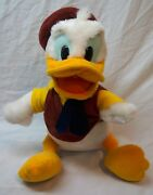 Vintage Walt Disney Parks Donald Duck In Vest And Tie 11 Plush Stuffed Animal Toy